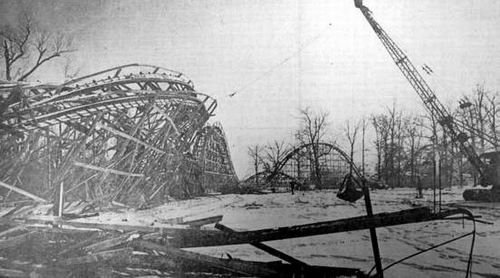 Lake Lansing Amusement Park - COASTER DEMO DEC 74 FROM RON GROSS
