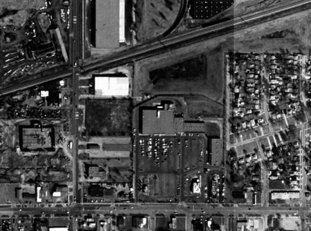Ecorse Drive-In Theatre - AERIAL - PHOTO FROM TERRASERVER