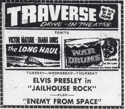 Traverse Drive-In Theatre - OLD AD