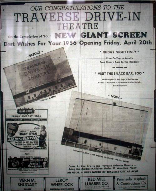 Traverse Drive-In Theatre - OLD NEWSPAPER AD FROM MICHIGANDRIVEINS
