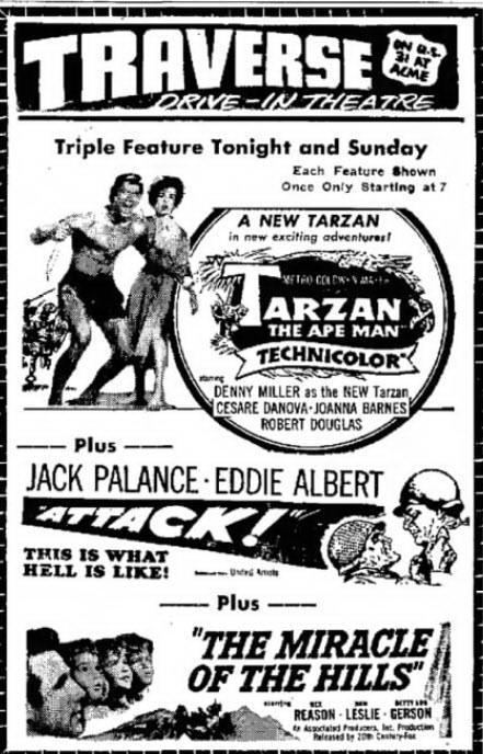 Traverse Drive-In Theatre - SEPT 24 1960 AD