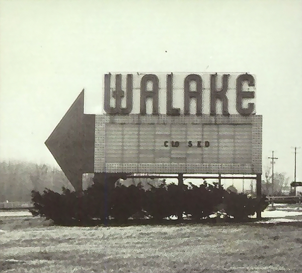 Walake Drive-In Theatre - OLD YEARBOOK SHOT FROM MC HORNER
