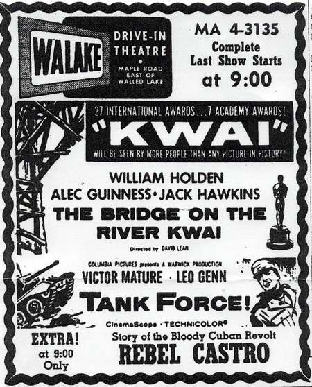 Walake Drive-In Theatre - OLD AD
