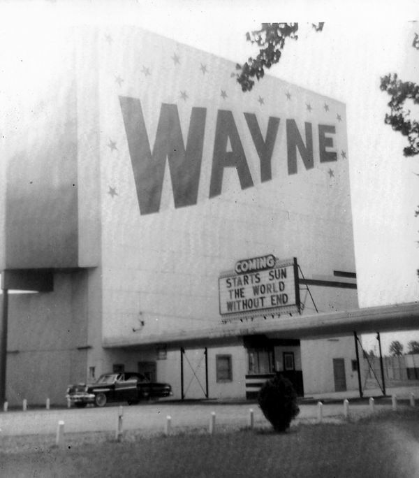 Wayne Drive-In Theatre - SCREEN AND ENTRANCE FROM F RYAN