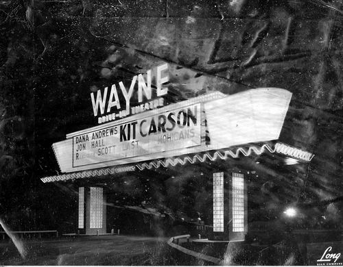 Wayne Drive-In Theatre - MARQUEE FROM F RYAN