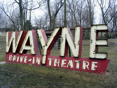 Wayne Drive-In Theatre - OLD SIGN FROM WHIT WHITWORTH