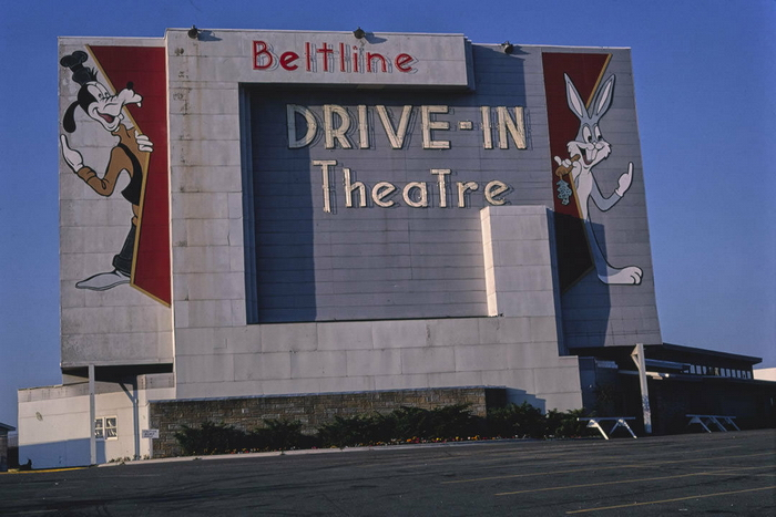 Beltline 3 Drive-In Theatre - VINTAGE PHOTO