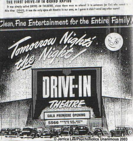 Stardust Drive-In Theatre - DIVISION GRAND OPENING AD 1947 COURTESY JERRICA LEE