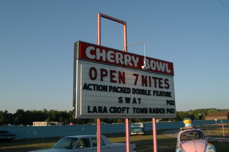 Cherry Bowl Drive-In Theatre - MARQUEE