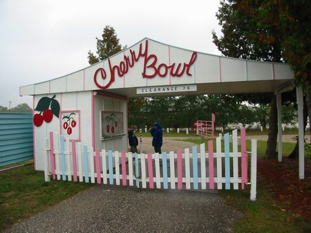 Cherry Bowl Drive-In Theatre - LANE - PHOTO FROM WATER WINTER WONDERLAND
