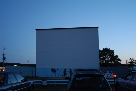 Cherry Bowl Drive-In Theatre - SCREEN AT DUSK