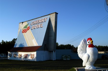 Cherry Bowl Drive-In Theatre - SCREEN AND CHICKEN