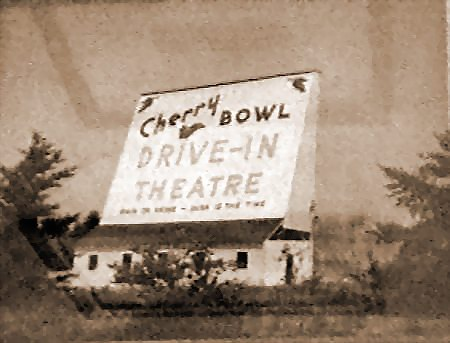 Cherry Bowl Drive-In Theatre - OLD SCREEN - PHOTO FROM RG