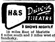 H & S Drive-In Theatre - OCT 13 1955 AD