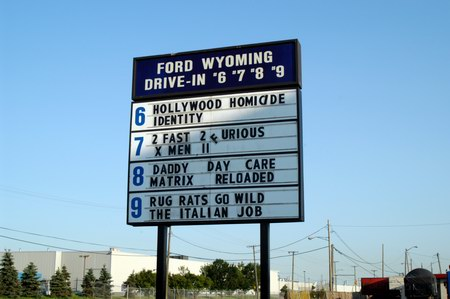Ford-Wyoming 6-9 Theatre - MARQUEE - PHOTO FROM WATER WINTER WONDERLAND