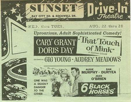 Sunset Drive-In Theatre - SUNSET AD AUGUST 1962