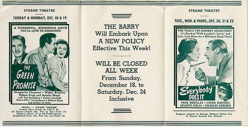 Barry Theatre - OLD FLYER FROM 1949