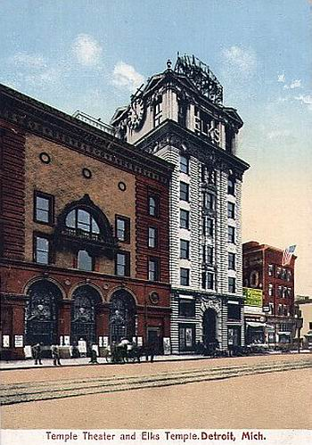 Temple Theatre - OLD POST CARD