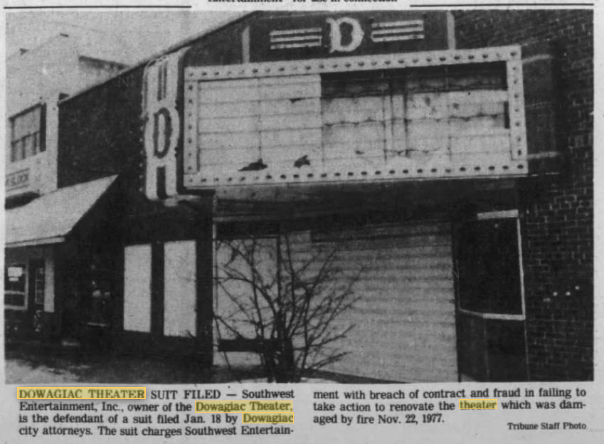 Dowagiac Theatre - JAN 23 1980