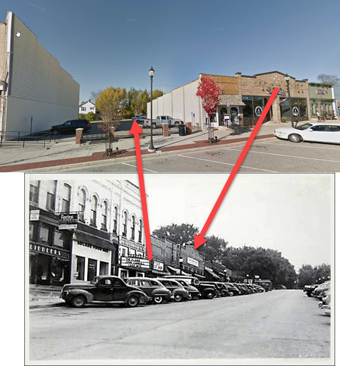 Lakeland Theatre - COMPARING OLD PHOTO TO 2018 STREET VIEW - DEMOLISHED