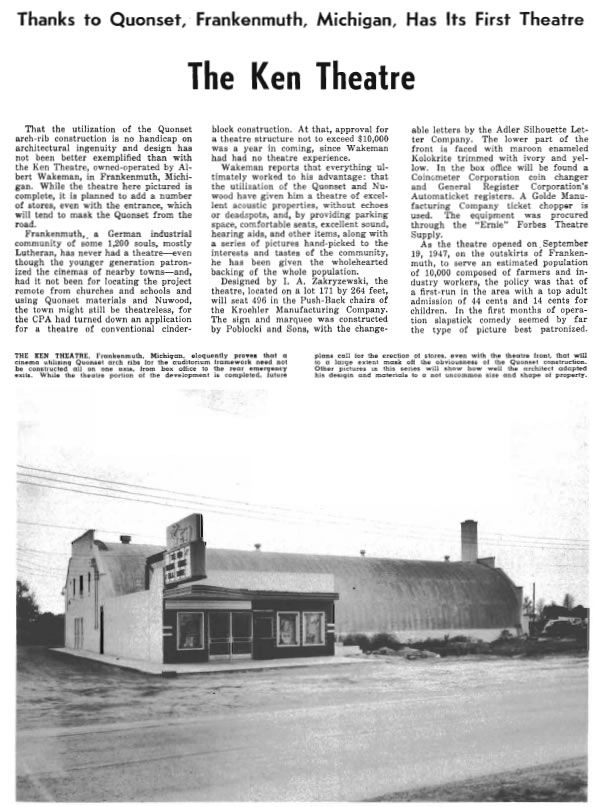 Ken Theatre - FROM 1947 THEATER CATALOG