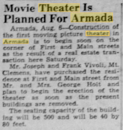 Armada Theatre - 06 AUG 1947 SEEMS TO INDICATED A DIFFERENT THEATER