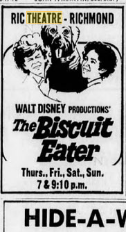 Ric Theater - 03 AUG 1972 BISCUIT EATER
