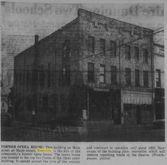 Dickinson Opera House - FROM OCT 14 1970 ARTICLE