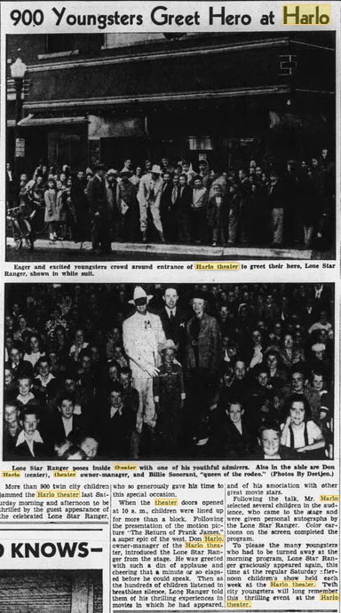 Harlo Theater - 17 JUN 1947 ARTICLE