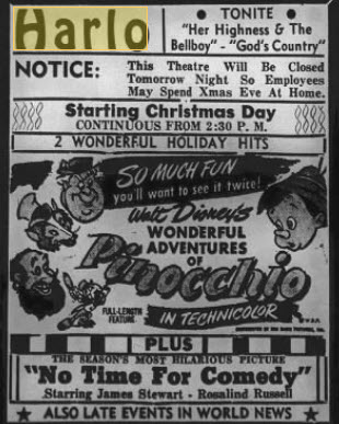 Harlo Theater - DEC 23 1946 AD