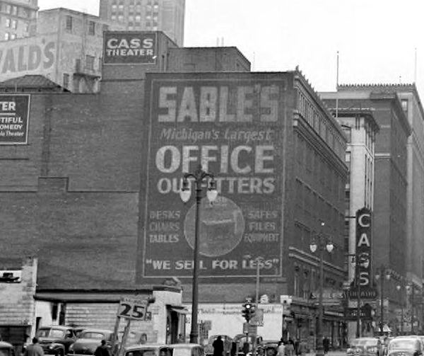 Cass Theatre - OLD PHOTO FROM WAYNE STATE LIBRARY