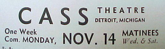 Cass Theatre - OLD AD
