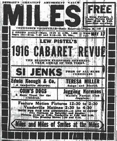 Miles Theatre - OLD AD