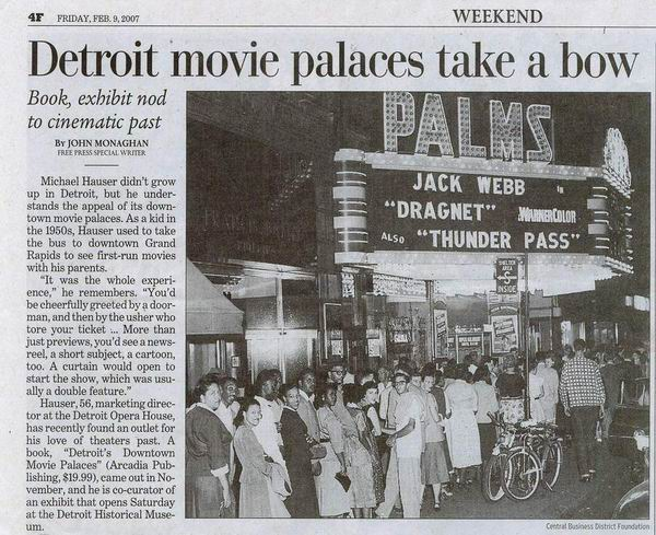 The Fillmore Detroit - NEWS ARTICLE 02-09-07