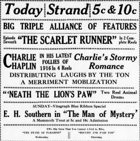 Michigan Theatre - 20 JAN 1917 AD