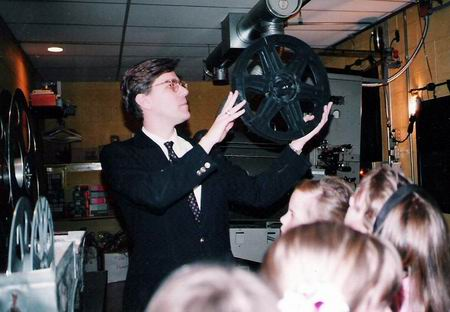 Old Orchard 3 - MANAGER DEMONSTRATING PROJECTION EQUIP