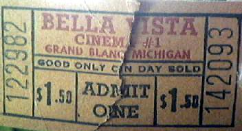 Bella Vista Theatre - TICKET STUB FROM GARY FLINN