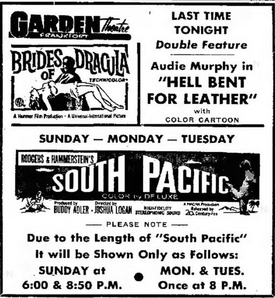 Garden Theatre - SEPT 24 1960 AD