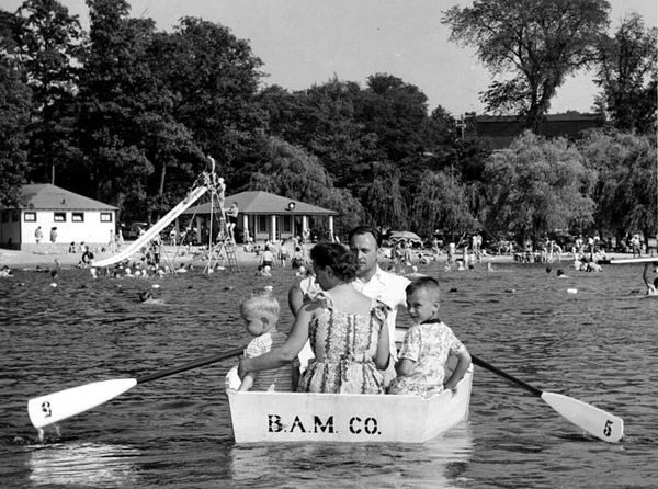 BAMCO ROW BOAT AT BURROUGHS FARMS 1950 FROM JIM FOX