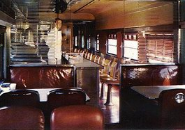 TRAIN INTERIOR DINER LAKE CITY