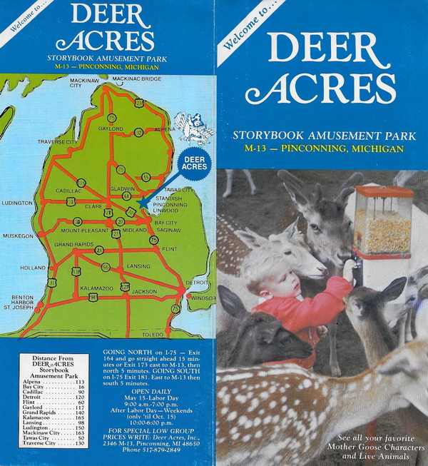 Deer Acres Storybook Amusement Park - OLD BROCHURE 1