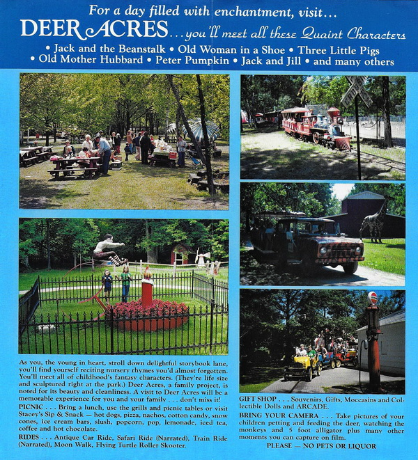 Deer Acres Storybook Amusement Park - OLD BROCHURE 2